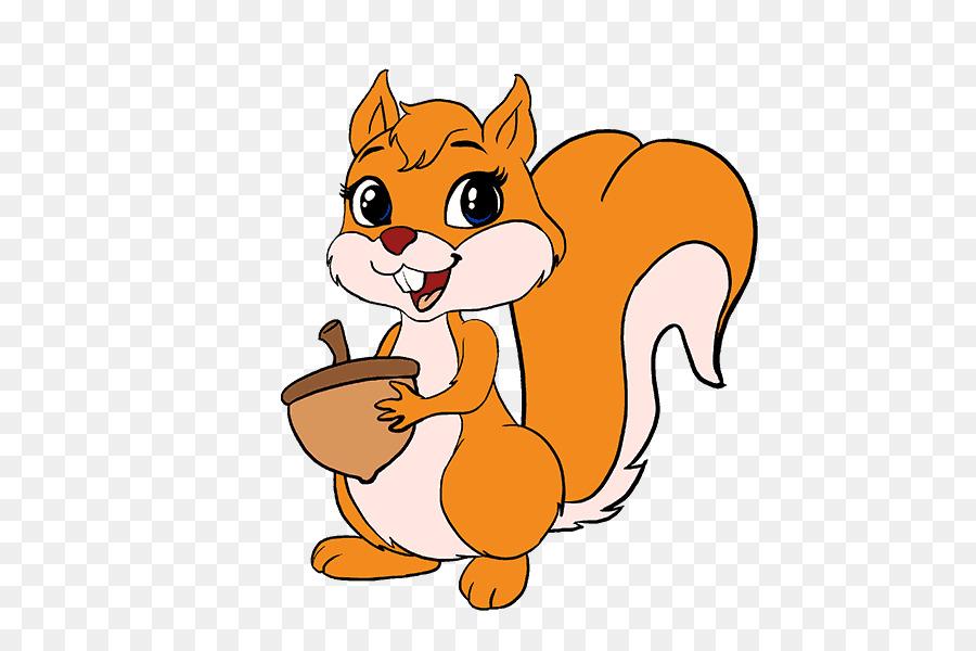 Dibujo De Sonriendo Ardilla De Dibujos Animados Para: Squirrel Rodent Drawing Cartoon Line Art