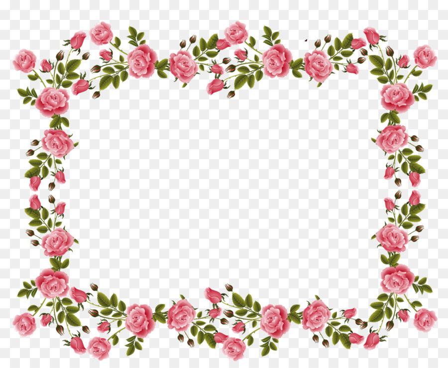 rose picture frames pink flowers clip art flower border