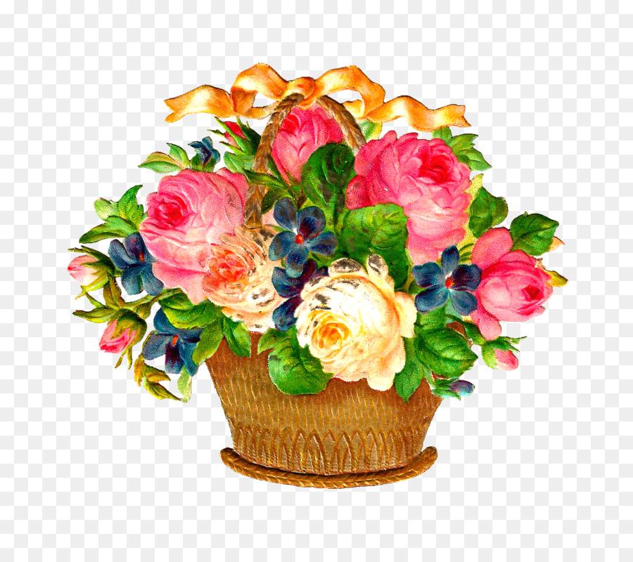 Basket Flower Clip Art Flower Vase Png Download 15911386 Free