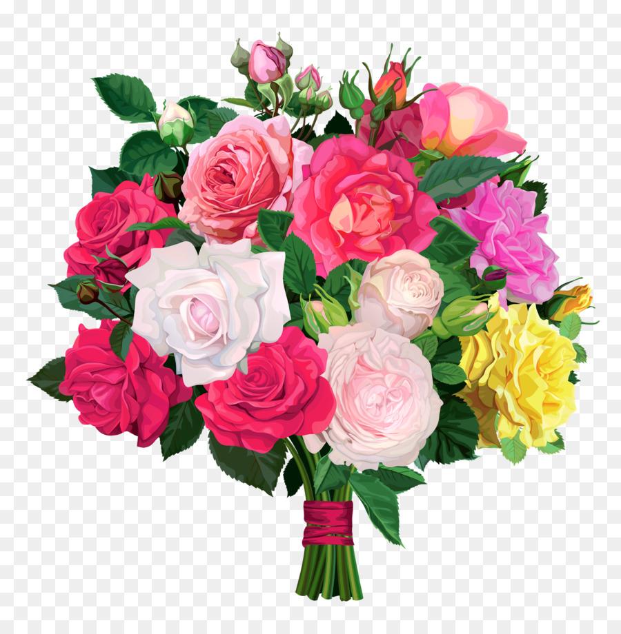Flower bouquet Rose Clip art - bouquet png download - 1566*1600 ...