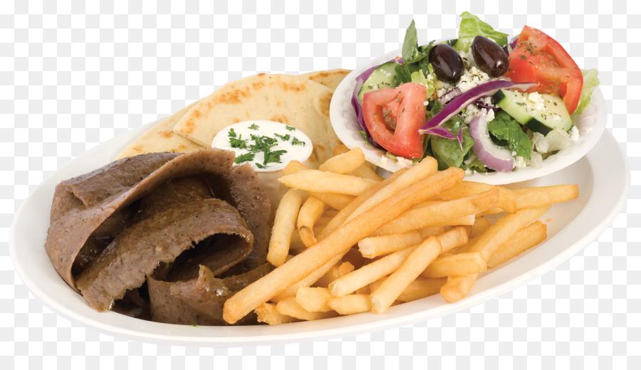 Gyro Shawarma Pommes Frites, mediterrane Küche, italienische Küche ...