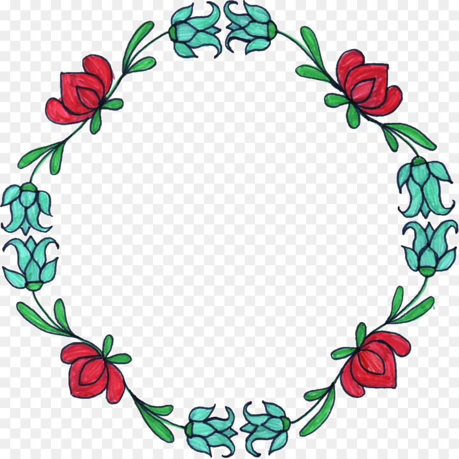 Flor Círculo de diseño Floral Clip art - marco del círculo Formatos ...