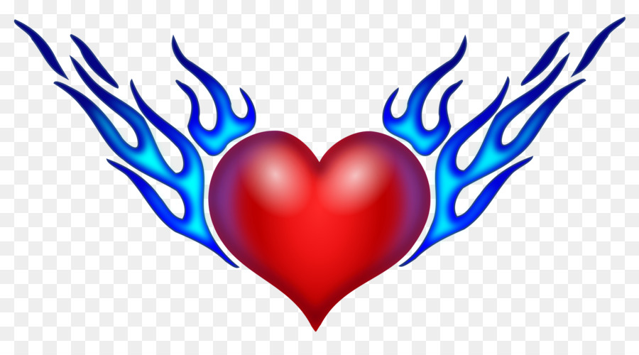Heart Drawing Flame Clip Art