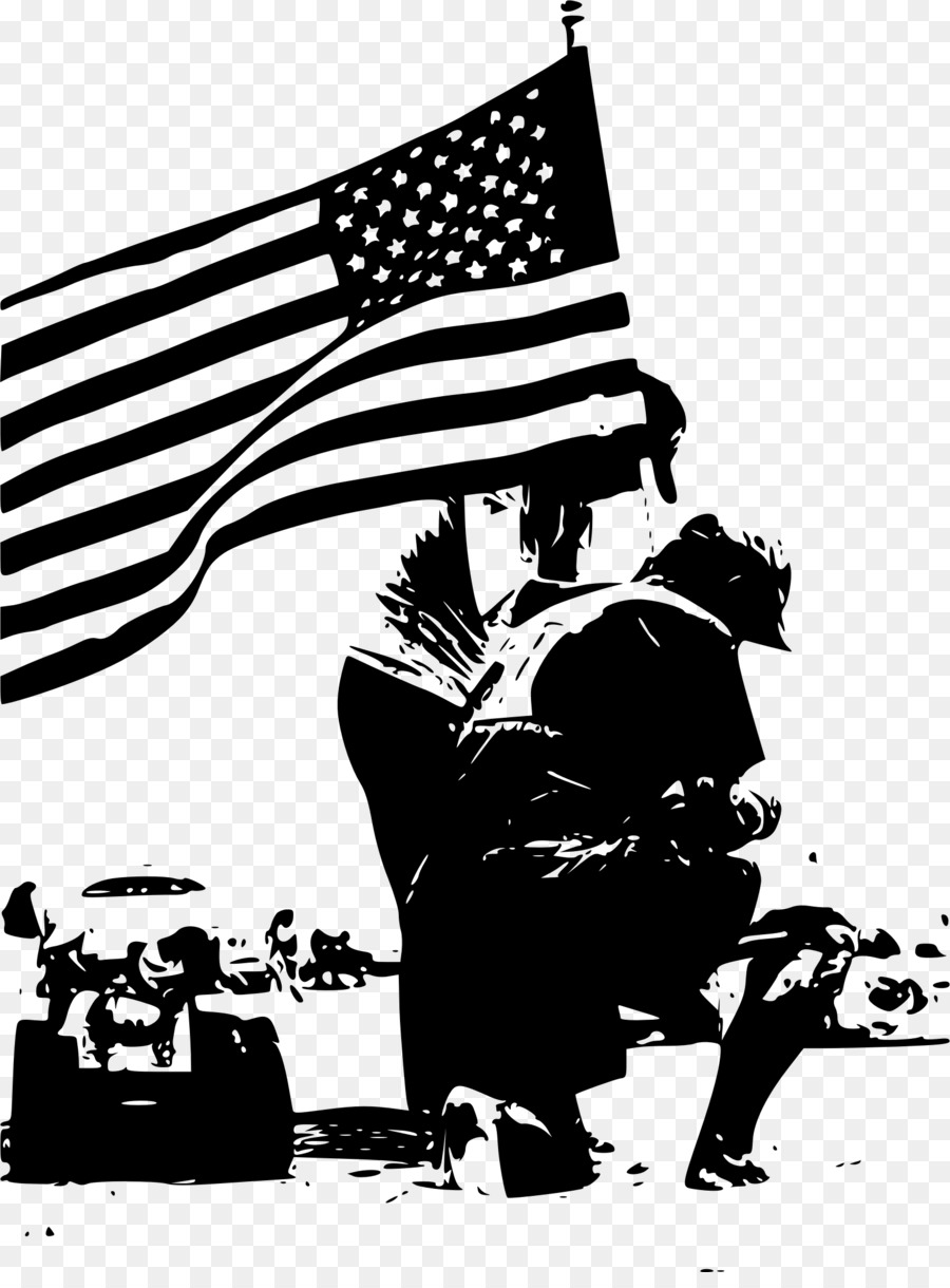 Memorial Day Black And White Veterans Day Poster Clip Art   Others