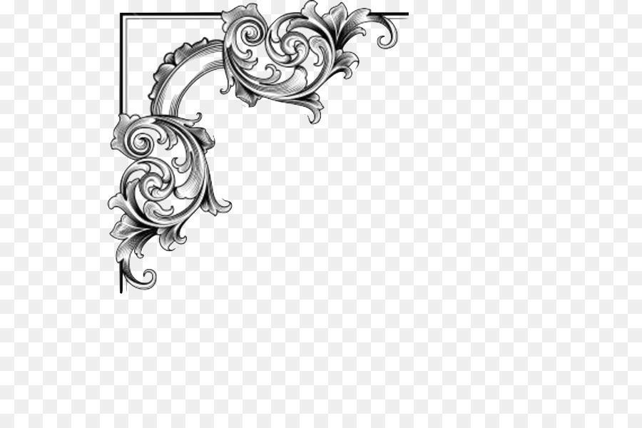 Baroque Ornament Picture Frames Gold Clip art - corner png download ...