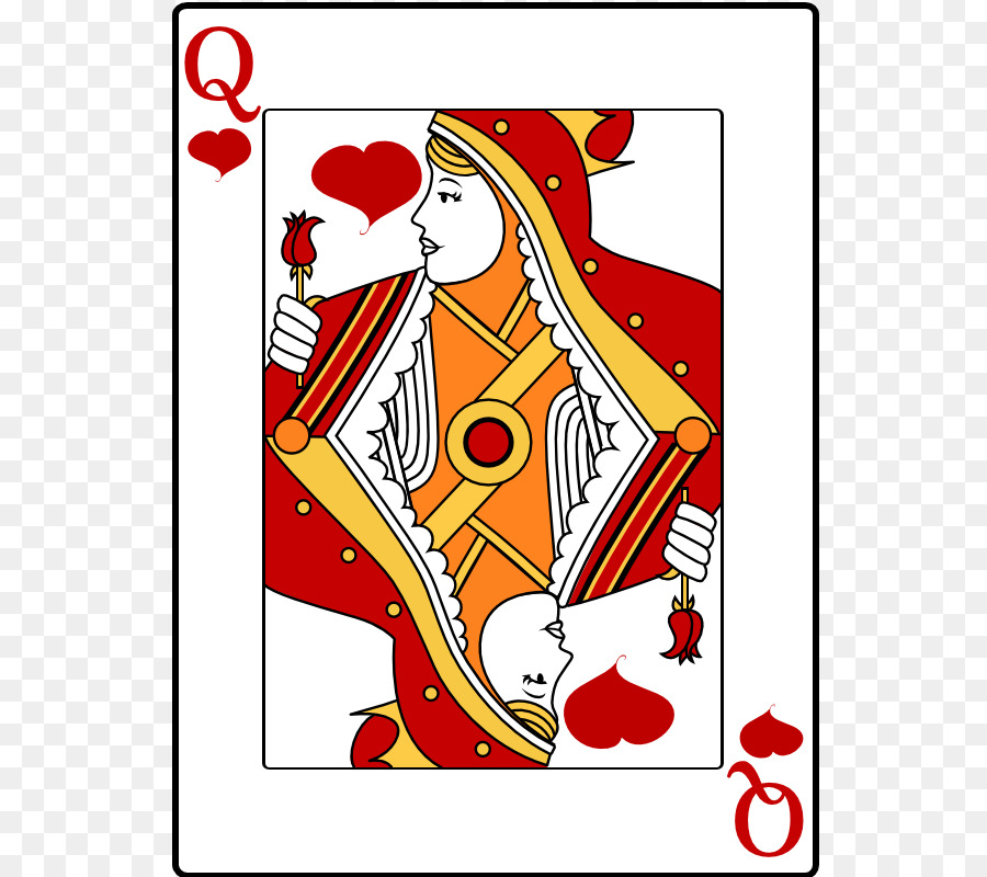 Queen Of Hearts Playing Card Clip Art