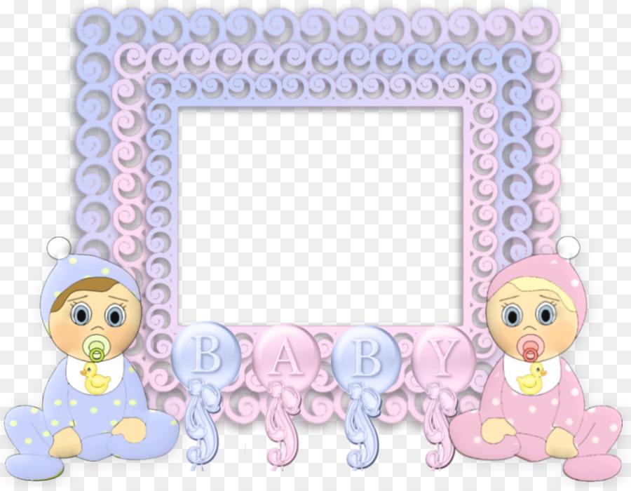 Picture Frames Infant Child Clip Art Baby Shower Png Download