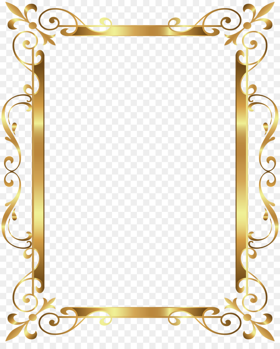 Gold Border Png Download 6539 8000 Free Transparent