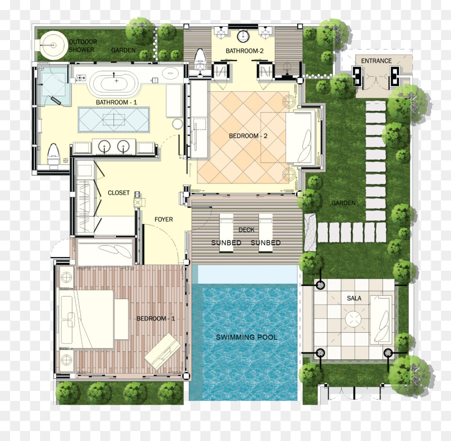 Melati Beach Resort Spa Swimming Pool House Plan Villa