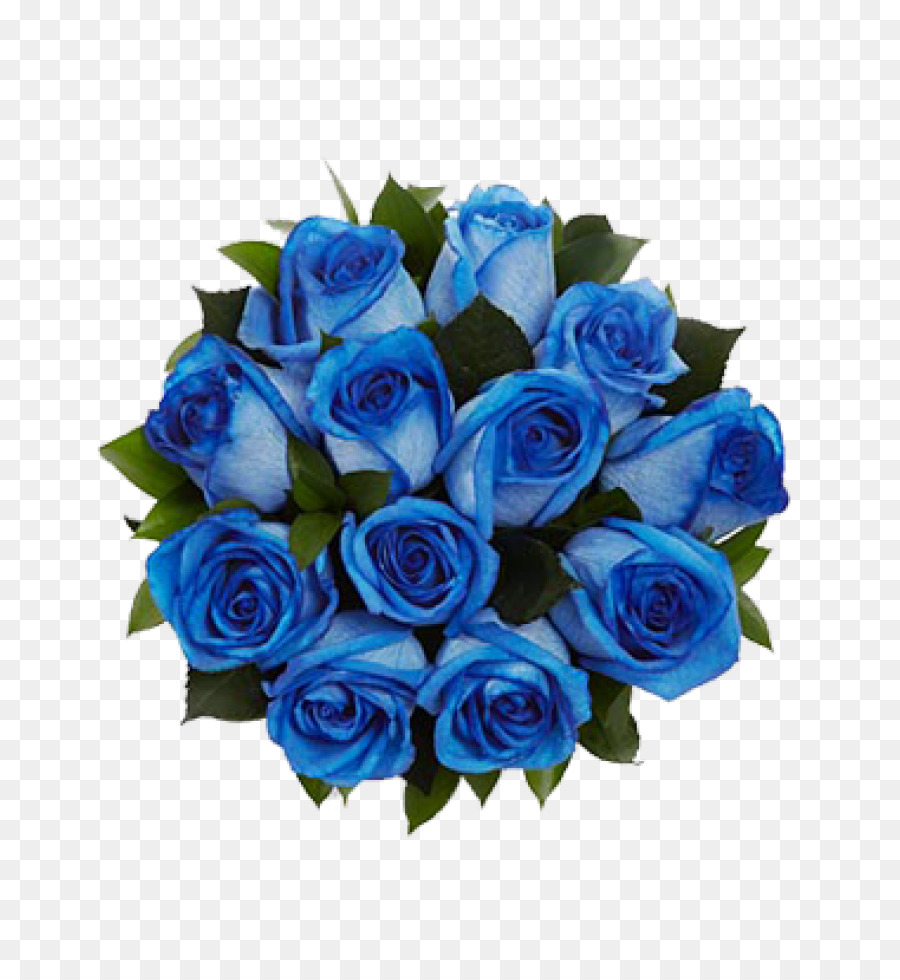 Blue rose Flower bouquet Cut flowers - blue flower png download ...