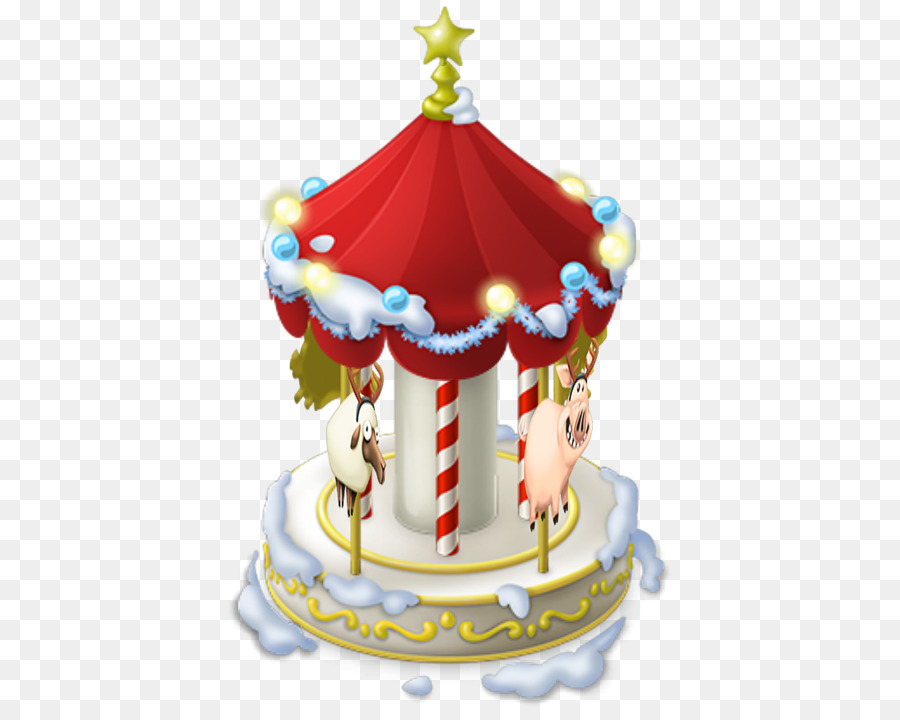 hay day christmas decoration carousel winter carousel