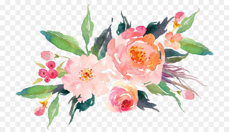 T Shirt Paper Flower Bouquet Watercolor Painting Flower Watercolor