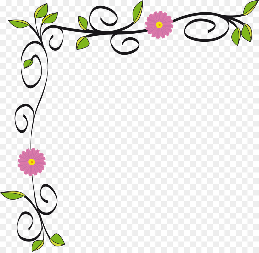 Transparent Background Flower Border Clipart