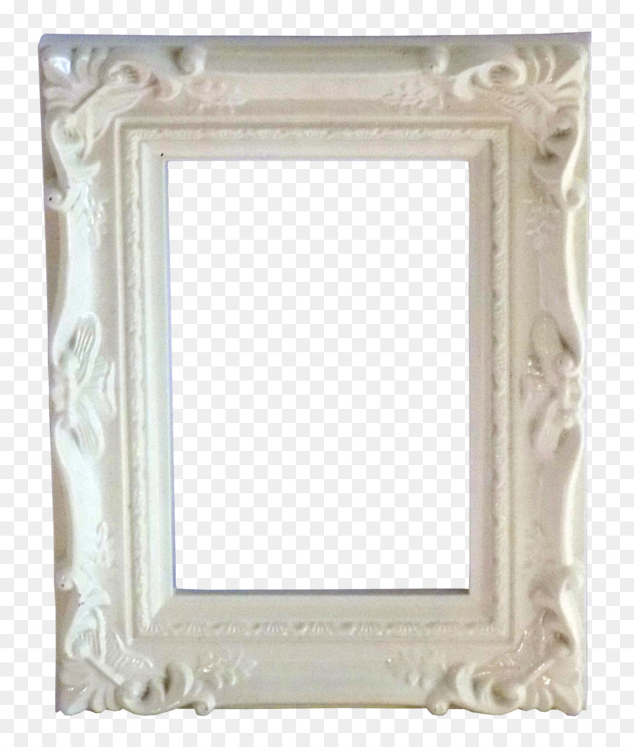 Picture Frames Mirror Vintage clothing - white frame png download ...