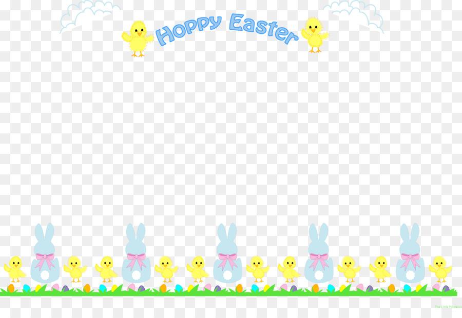 Easter Bunny Picture Frames Clip art - easter border png download ...