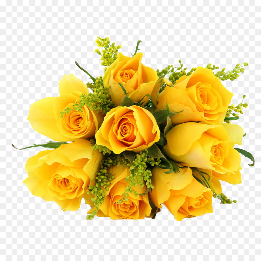Rose Yellow Flower Desktop Wallpaper Yellow Rose Png Download