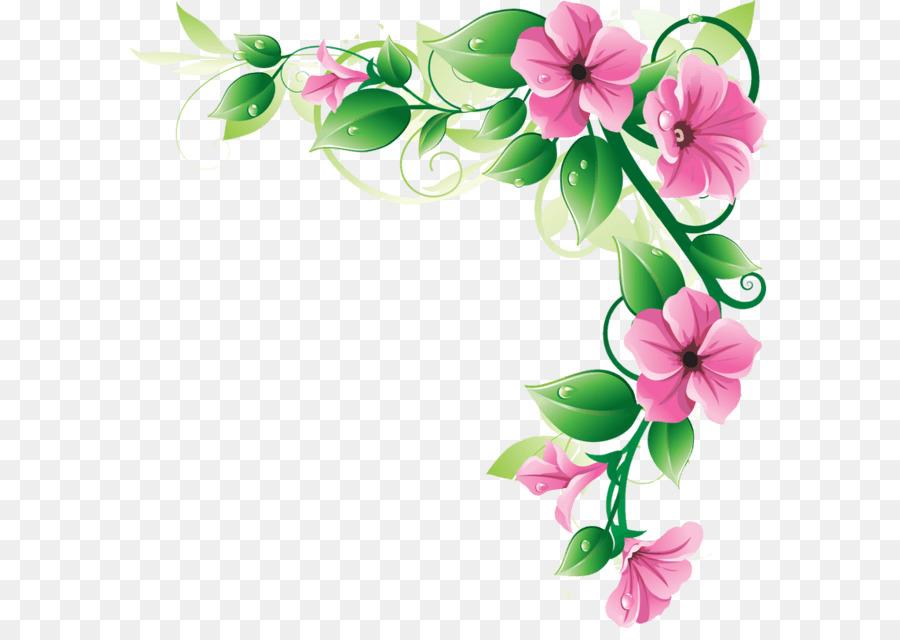 border flowers borders and frames clip art flower border png rh kisspng com flower border clip art black and white flower border clipart certificates
