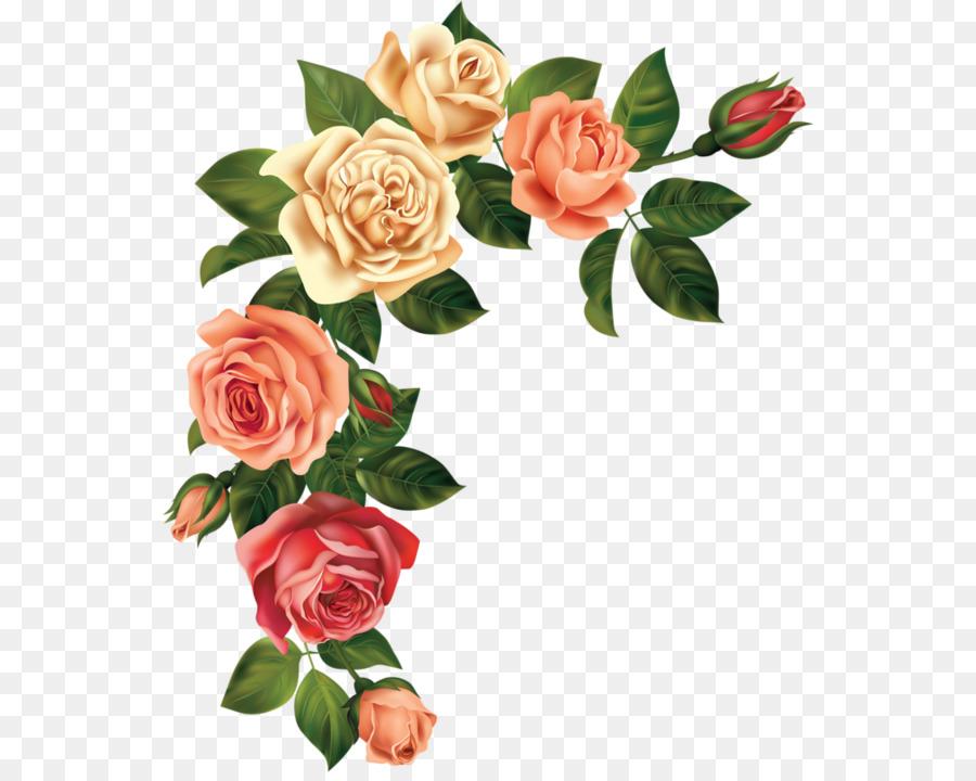 Flower bouquet Rose Floral design Clip art - peach flower png ...