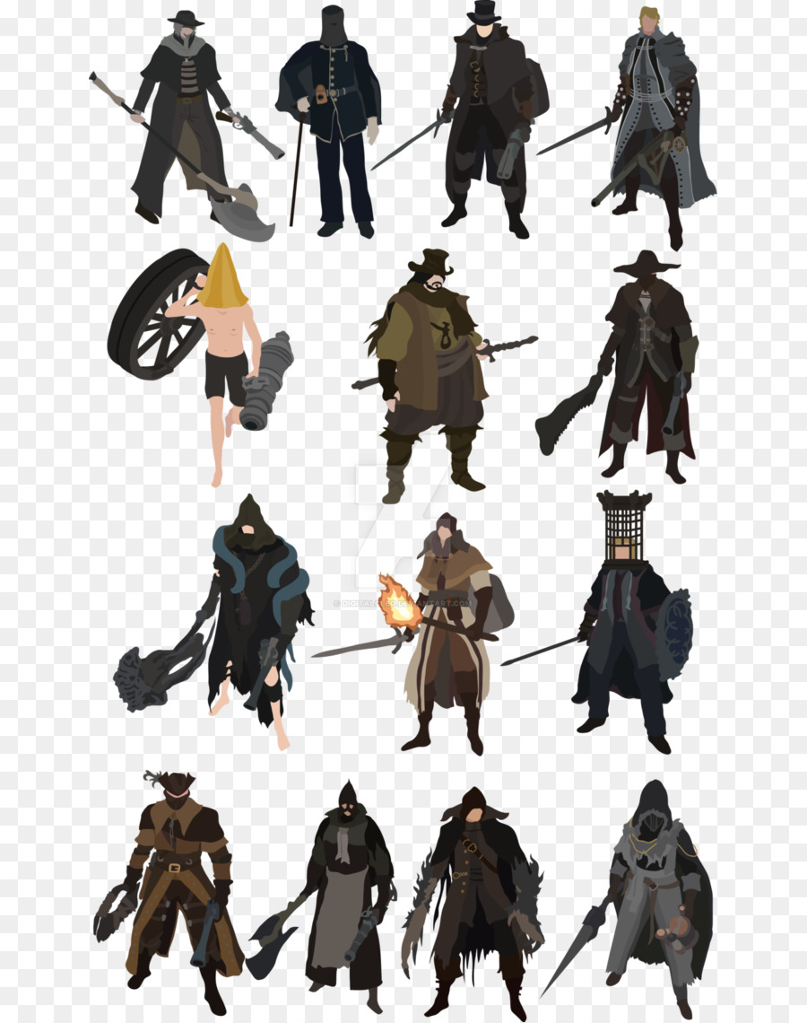 Bloodborne The Old Hunters Concept Art Character Souls