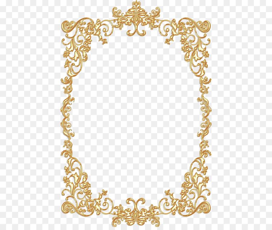 Borders and Frames Picture Frames Gold Vintage Clip art ...