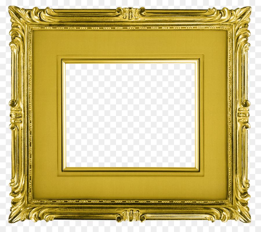 Picture Frames Round Gold Clip art - gold frame Formatos De Archivo ...