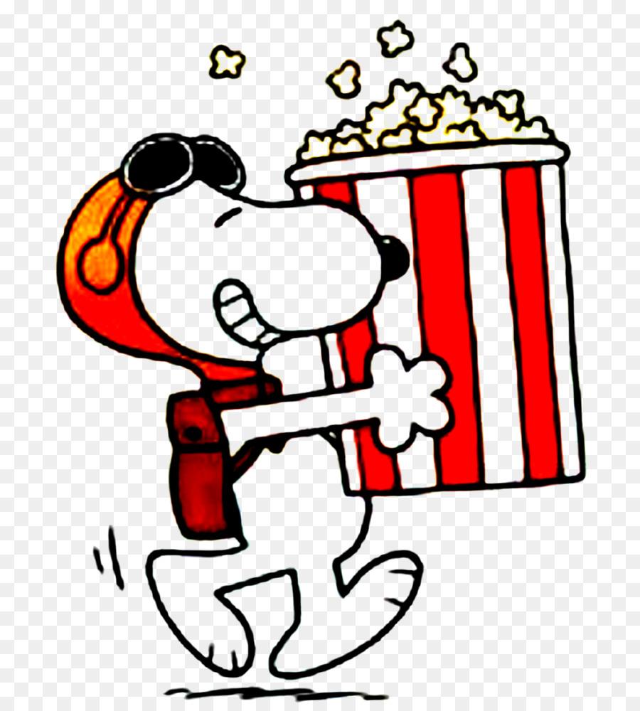 Snoopy Popcorn Cartoon T-shirt Comics - snoopy png