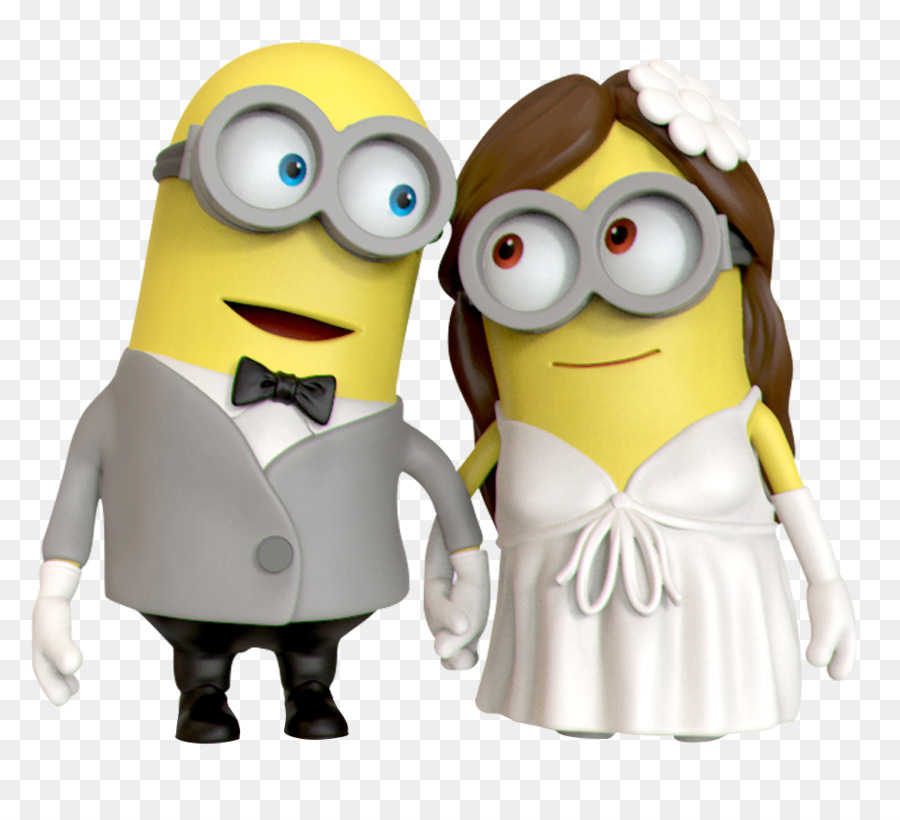 Wedding cake topper Birthday cake Minions - minion png download ...
