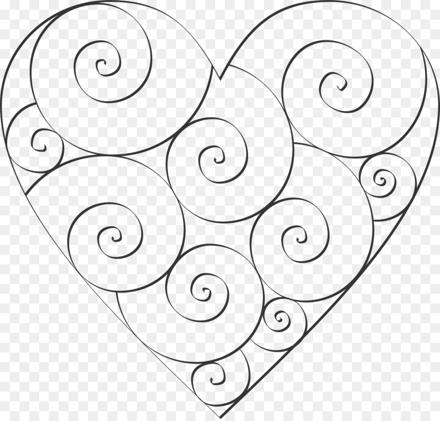 Heart Template Coloring book Spiral Pattern - burning letter a png ...