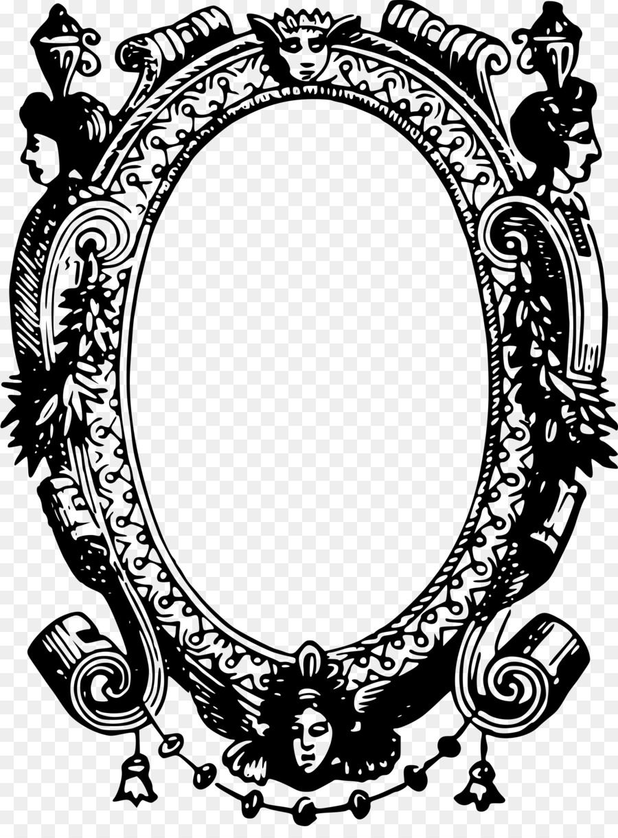 vintage mirror drawing. Picture Frames Drawing Mirror Clip Art - Vintage T