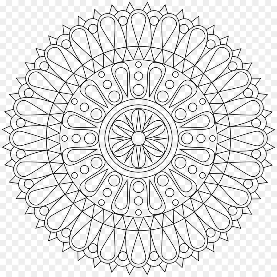 Coloring book Mandala Meditation Adult - mandala png download - 1600 ...