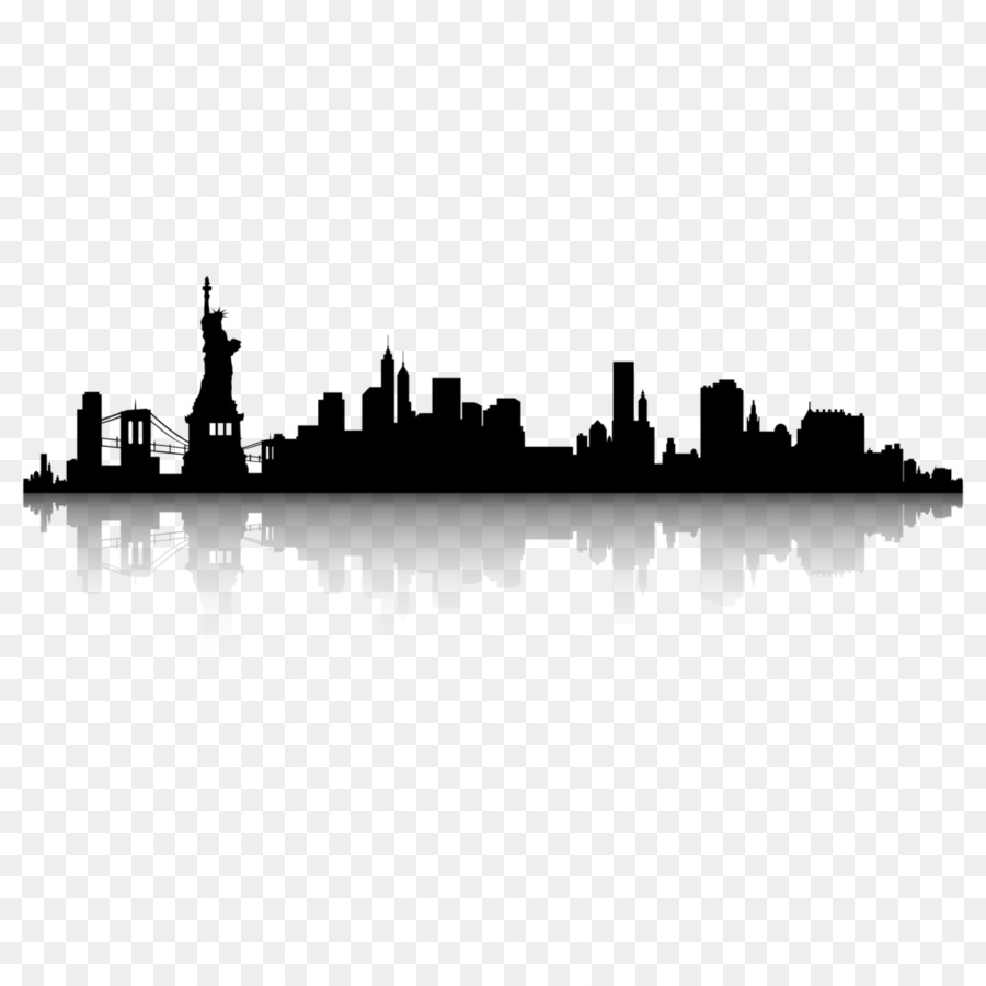 new york city skyline silhouette clip art city