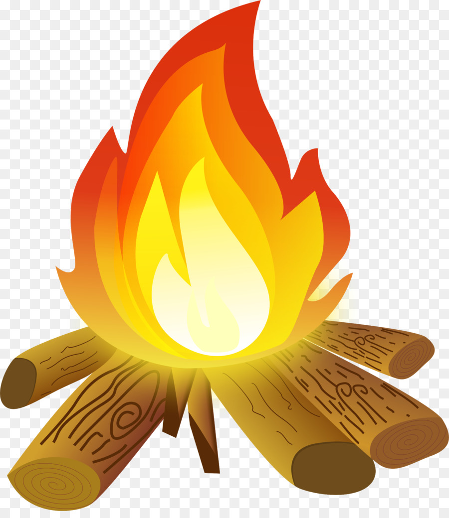 Camping campfire. Cartoon png download free