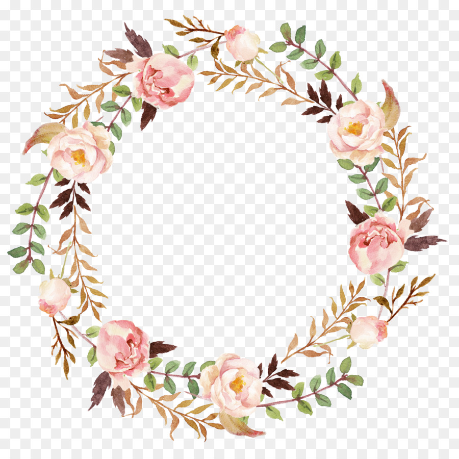 Wedding Invitation Paper Wreath Clip Art Flower Wreath