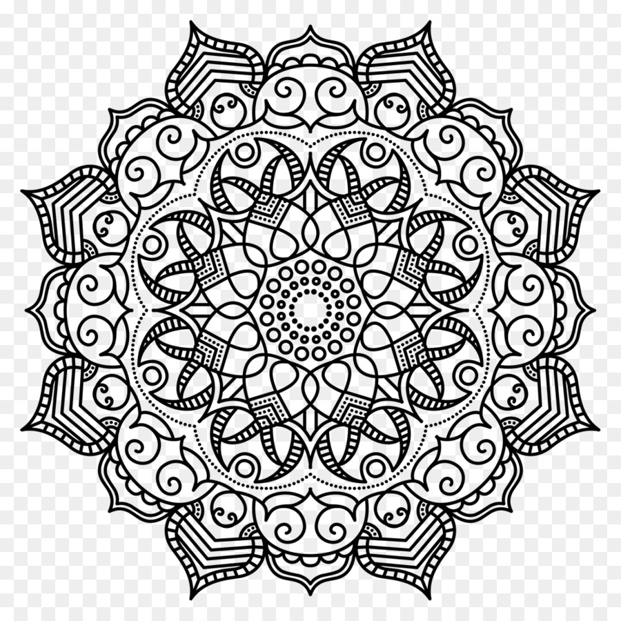 Mandala Coloring Book Meditation Pattern