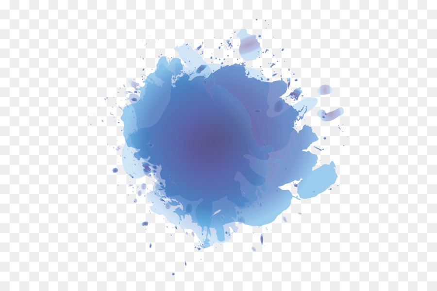 Paint Blue Sky Color Clip Art Splash