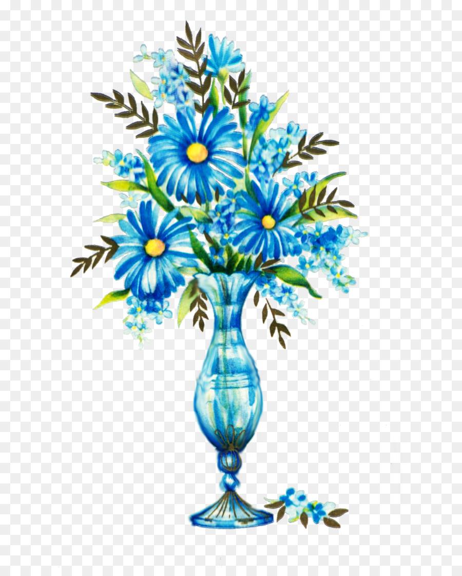 Blue Flower Rose Clip Art Blue Flower Png Download 7241103