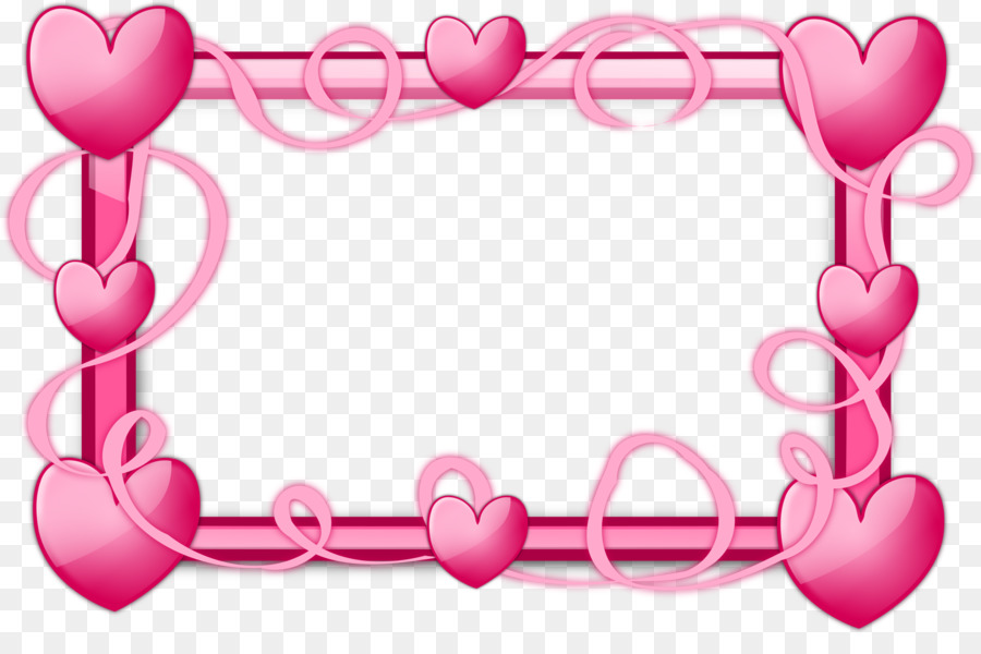 borders and frames picture frames heart clip art pink border png