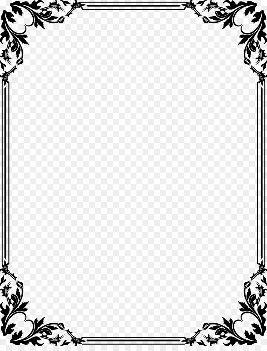 Wedding Invitation Borders And Frames Clip Art White Frame Png