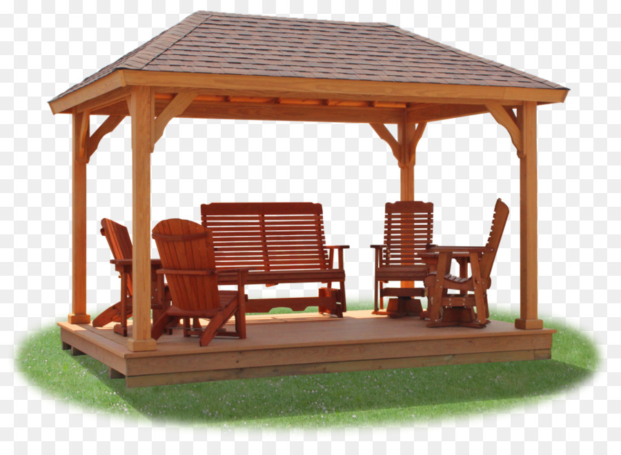 gazebo pavilion pergola wood garden furniture gazebo png download