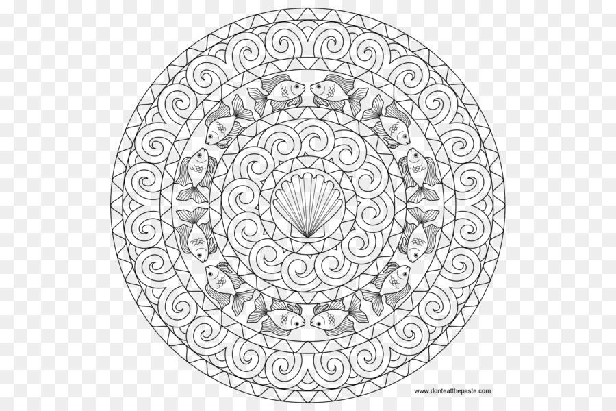 Peces de colores para Colorear Mandalas de Flores: 30 Dibujado a ...