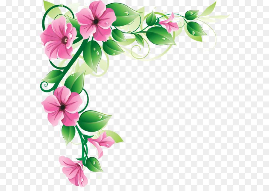 flower pink border design clipart free transparent png clipart