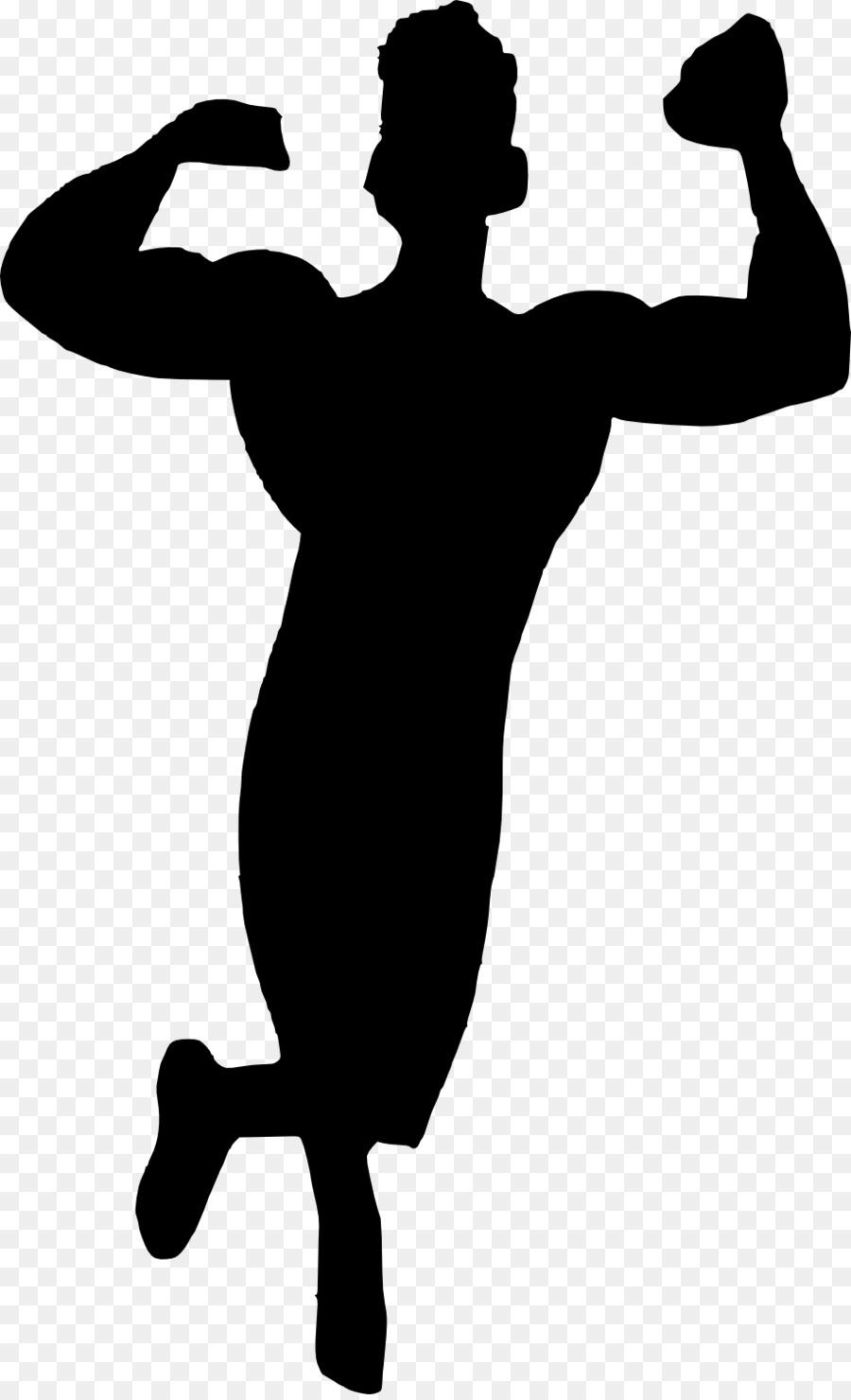 La Silueta De Culturismo Muscular - musculación png dibujo ...