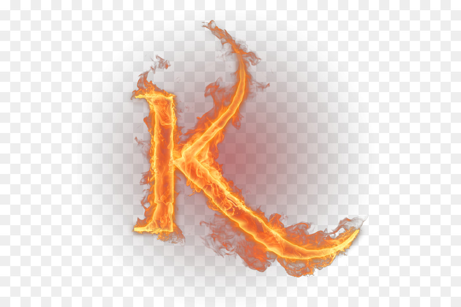 K Letter English alpha...K Logo In Fire