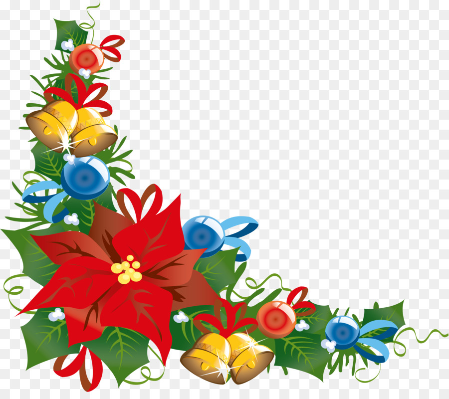 Christmas decoration Poinsettia Christmas tree - corner png download - 4155*3631 - Free Transparent Christmas png Download.