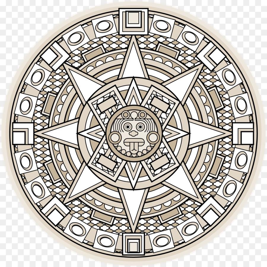 Piedra del calendario azteca civilización Maya de Mesoamérica ...