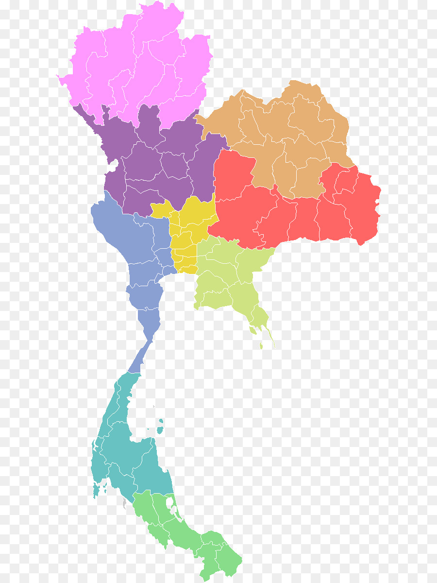Provinces Of Thailand Vector Map Thailand Png Download 800 1200