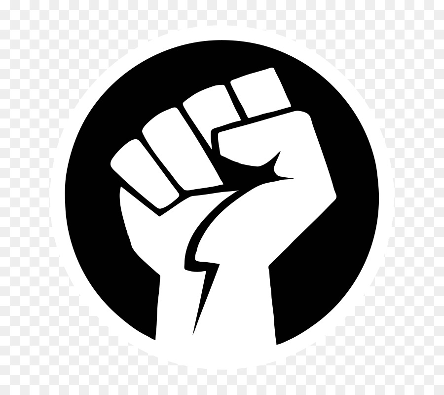 raised fist clip art - power png download - 800 800