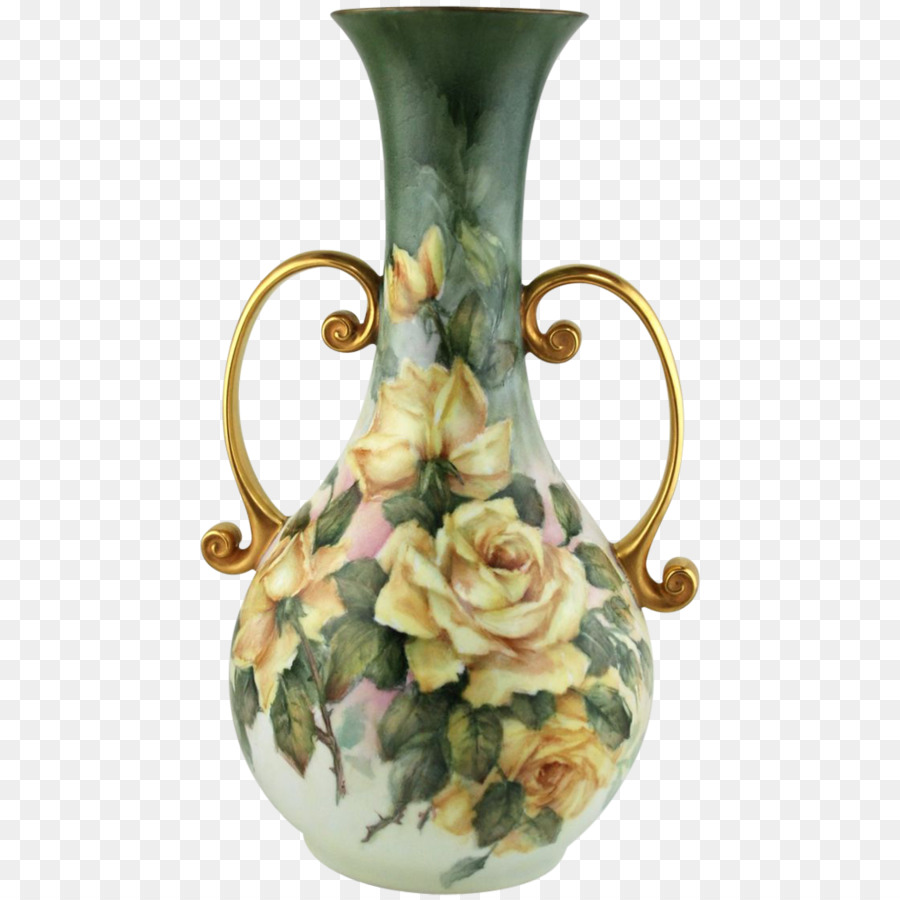 Limoges Still Life Vase With Pink Roses Porcelain China Painting