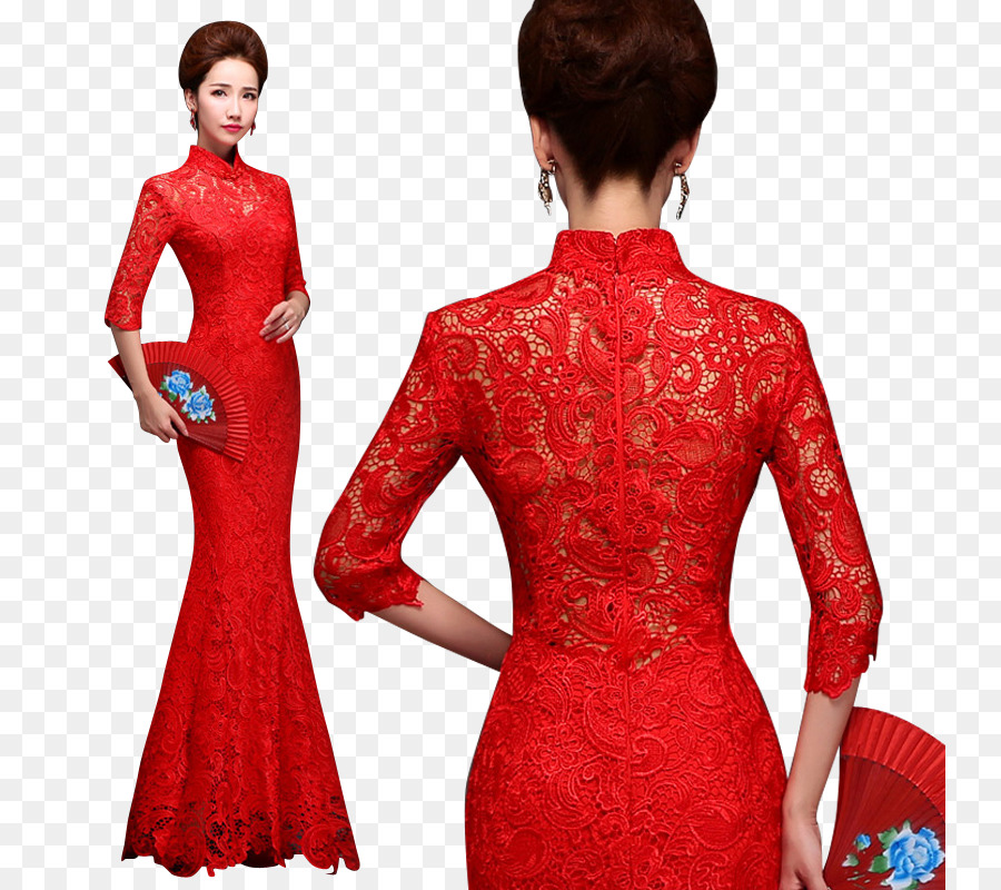 Wedding Dress Sleeve Cheongsam Mandarin Collar