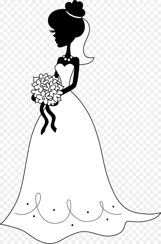 La novia de Silueta de Mujer con ramo de Flores - novia Formatos De ...